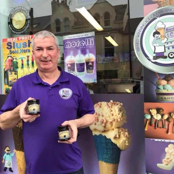 Down by the sea at Donaghadee you can now treat yourself to a jar or two from Phillip at Morelli's at Donaghadee