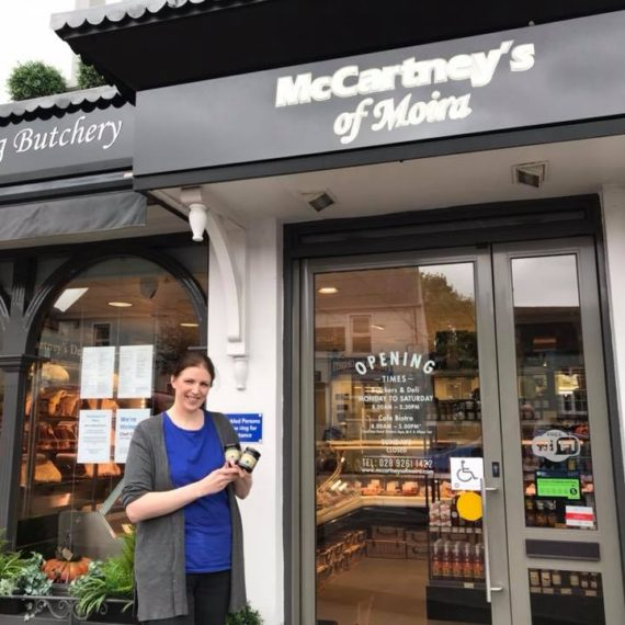 Meanwhile in Moira Judith at McCartney's Of Moira is well stocked with jars of Irish Black Butter